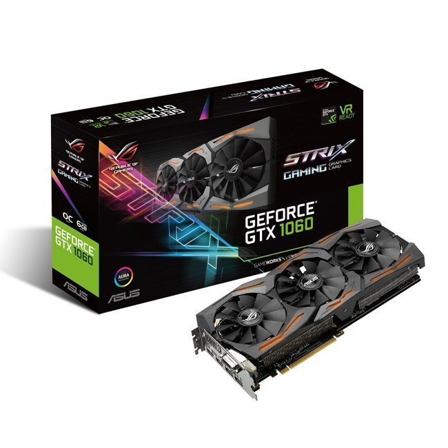 Image Asus GeForce GTX 1060 STRIX OC 6 Go