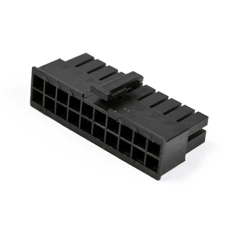 Connecteur Femelle 20 pins broches ATX - Noir