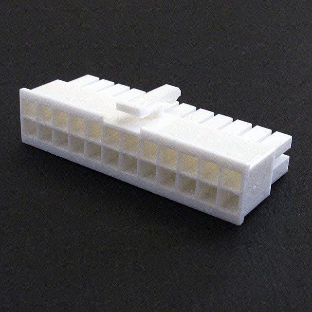 Connecteur Femelle 24 pins broches ATX - Blanc (2)