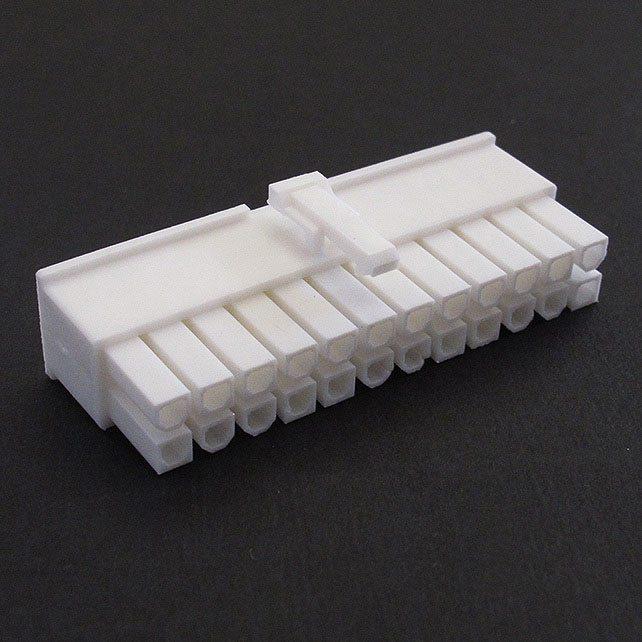 Connecteur Femelle 24 pins broches ATX - Blanc