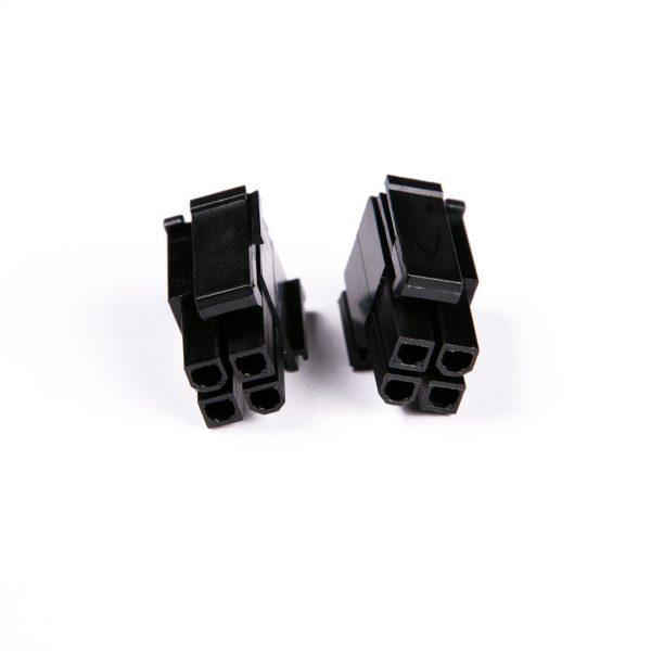 Connecteur Femelle 4+4 pins broches EPS - Noir
