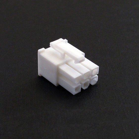 Connecteur Femelle 6 pins broches PCIE - Blanc