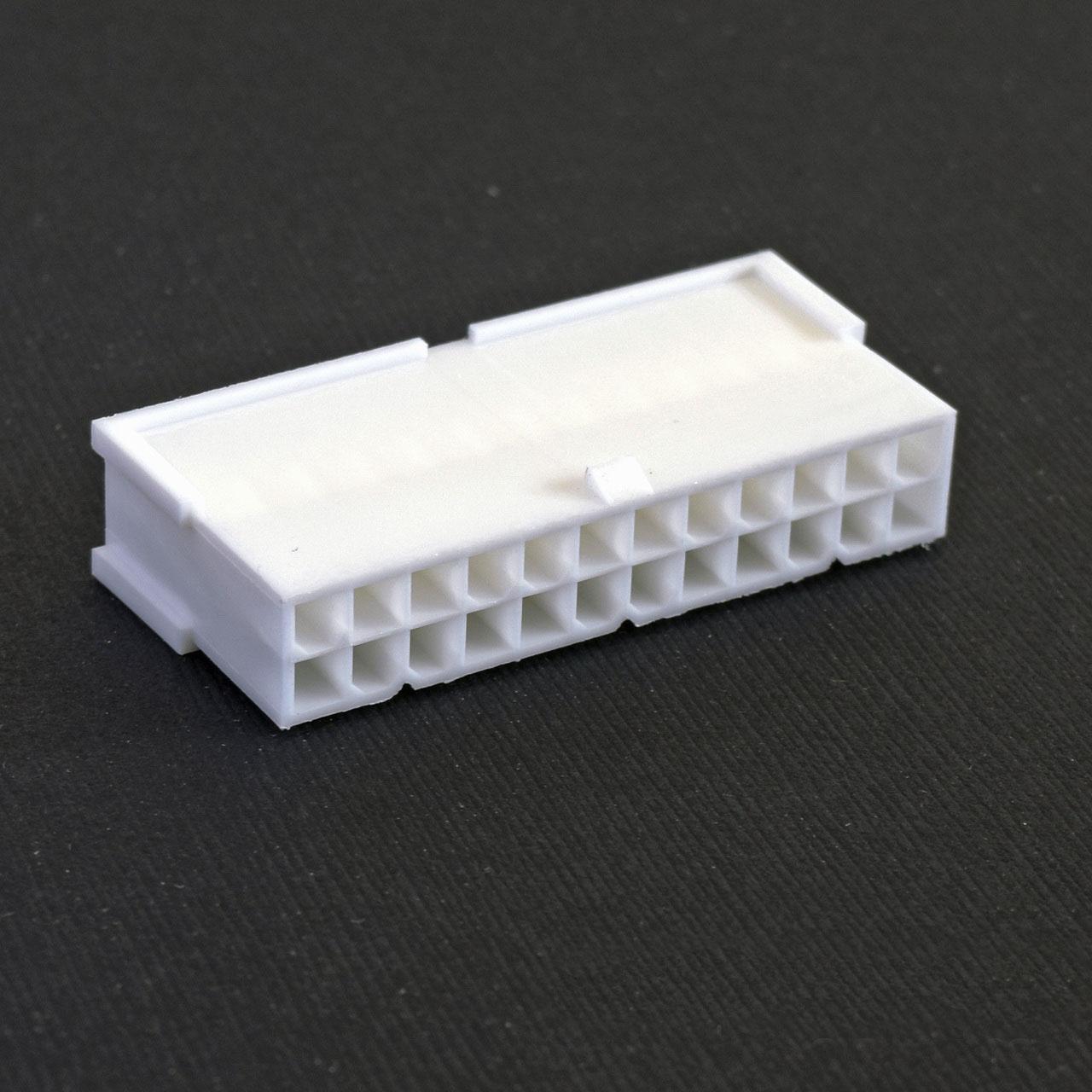 Connecteur Mâle 24 pins broches ATX - Blanc