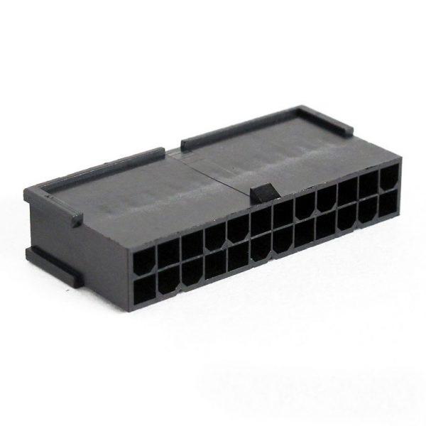 Connecteur Mâle 24 pins broches ATX - Noir