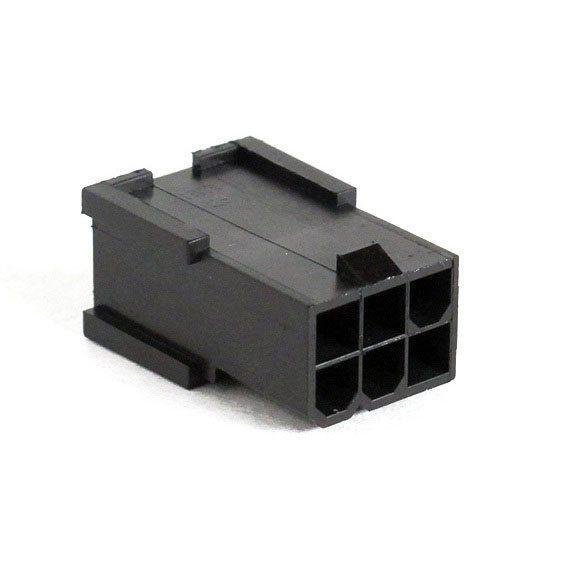 Connecteur Mâle 6 pins broches PCIE - Noir
