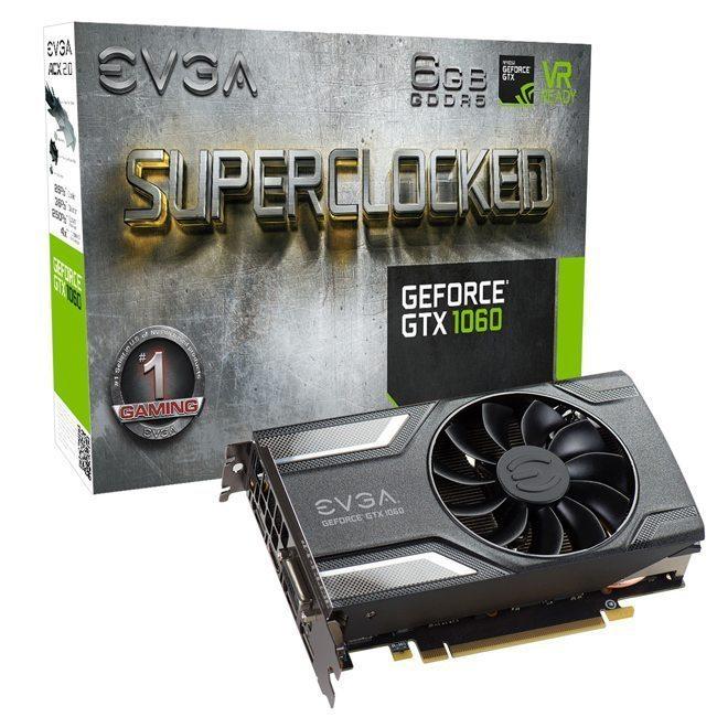 Image EVGA GeForce GTX 1060 SC 6 Go