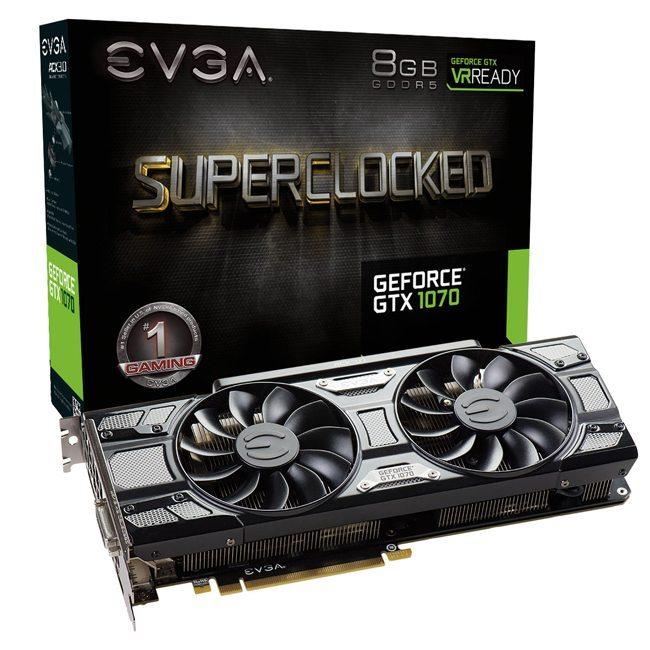 Image EVGA GeForce GTX 1070 SC Gaming ACX 3.0-8 Go