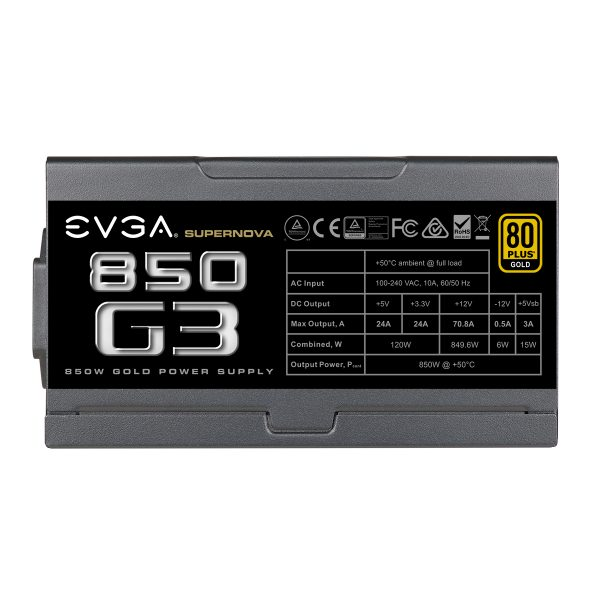 EVGA SuperNova 850 G3 Alimentation Modulaire 850W Certifiée 80+ GOLD - Photo 4
