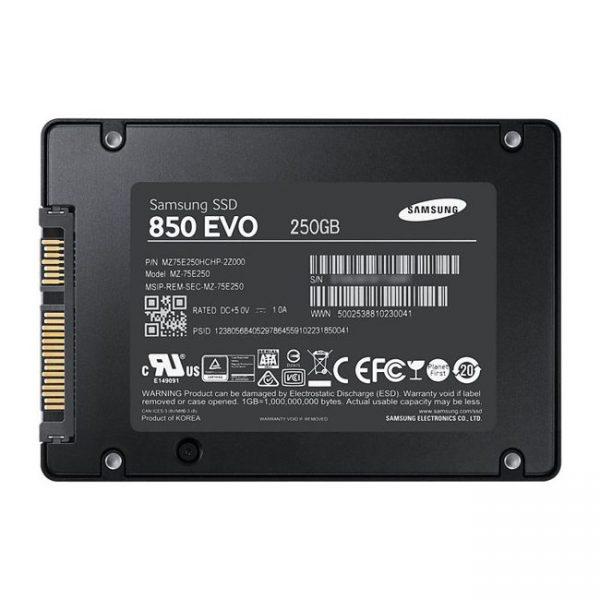 Image SSD SamsungSerie 850 EVO - 250 Go