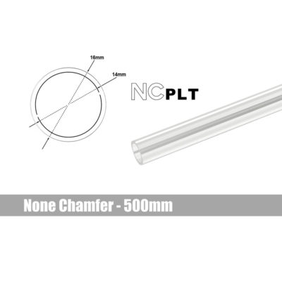 Bitspower Tube None Chamfer PETG Link 16mm - 500mm
