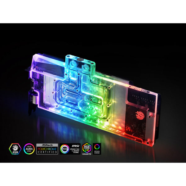 Waterblock RGB Bitspower pour carte graphique MSI GeForce RTX 2080 Ti Lightning Z