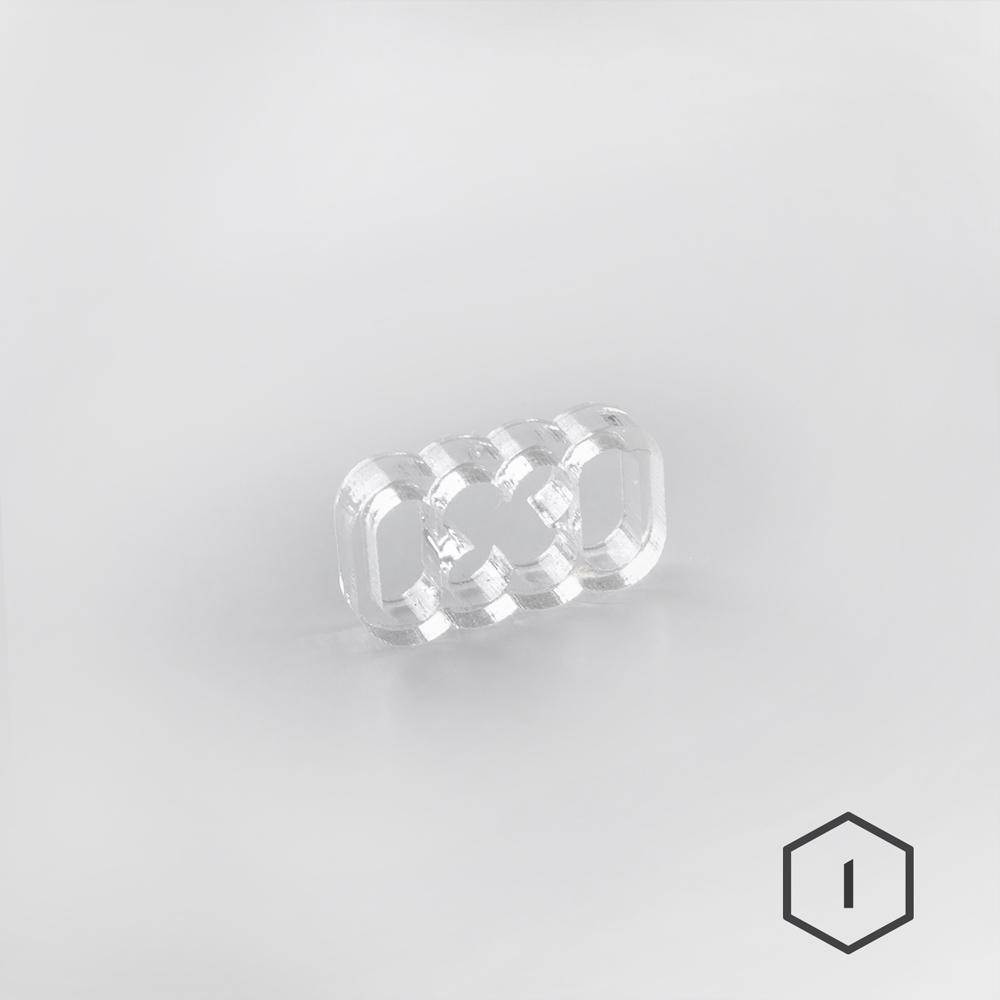Cable Comb Transparent 8 Pins