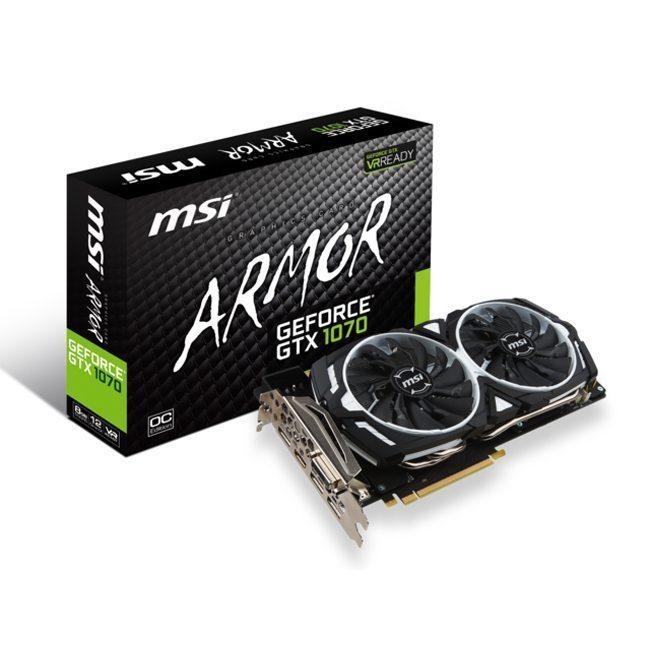 Image MSI GeForce GTX 1070 Armor OC – 8 Go