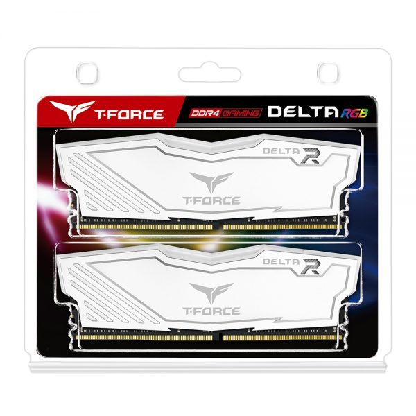 Team Group T-Force DELTA RGB DDR4 8 Go (2 x 4 Go) 2666 Mhz – Blanc