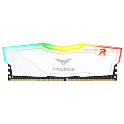 Team Group T-Force DELTA RGB DDR4 8 Go (2 x 4 Go) 2666 Mhz – Blanc