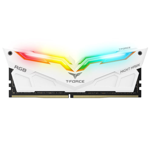Team Group T-Force Night Hawk RGB DDR4 16 Go (2 x 8 Go) 3200 Mhz - Blanc