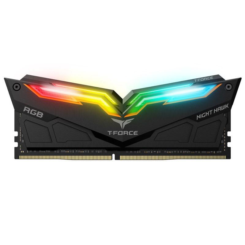 Team Group T-Force Night Hawk RGB DDR4 16 Go (2 x 8 Go) 3200 Mhz - Noir